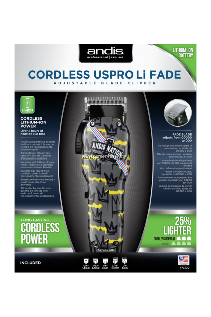 ANDIS CORDLESS USPRO LI FADE ANDIS NATION CLIPPER