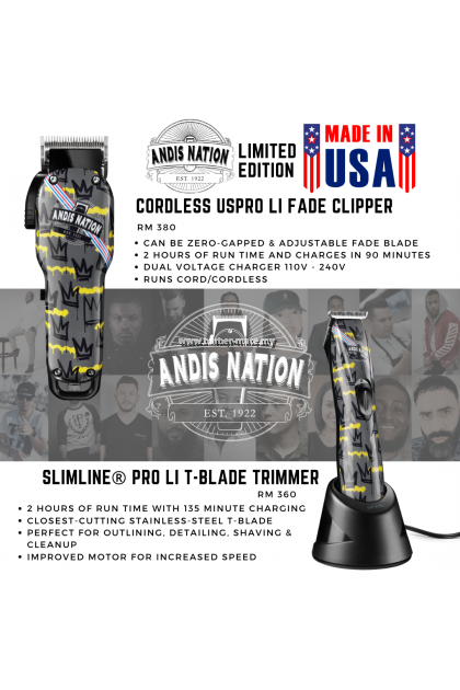 ANDIS NATION BARBER COMBO LIMITED EDITION
